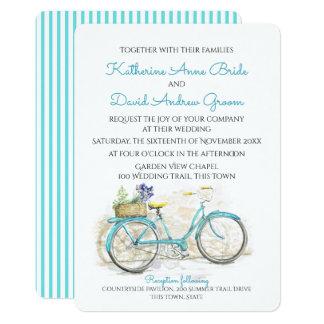 Watercolor Country Vintage Bicycle Wedding Card