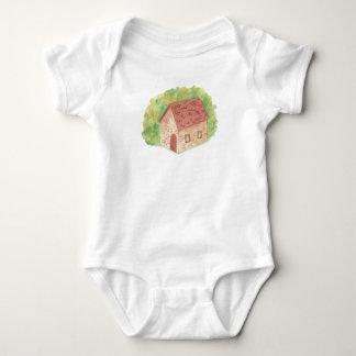 Watercolor Cozy Cottage Baby Bodysuit