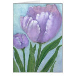 Watercolor Crocus Stationery Note Card