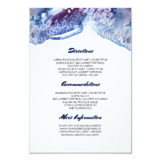 Watercolor Crystal Blue Wedding Information Card