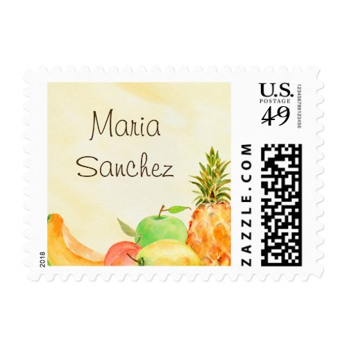 Watercolor Culinary School Graduation Postage Stamp