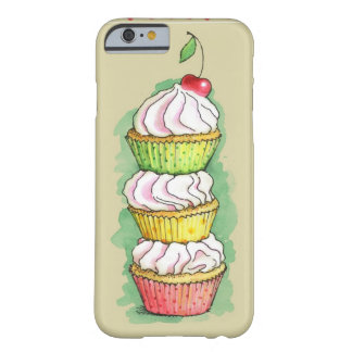 Watercolor cupcakes. Kitchen illustration. Barely There iPhone 6 Case
