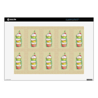 Watercolor cupcakes. Kitchen illustration. Decal For Laptop
