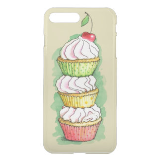 Watercolor cupcakes. Kitchen illustration. iPhone 7 Plus Case