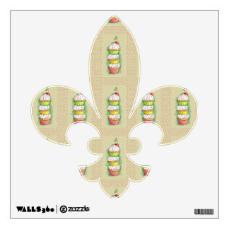 Watercolor cupcakes. Kitchen illustration. Wall Sticker