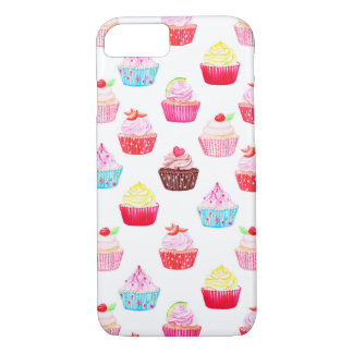 Watercolor cupcakes pattern iPhone 8/7 case
