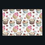 """Watercolor cupcakes placemat<br><div class=""""desc"""">Watercolor cupcakes</div>"""