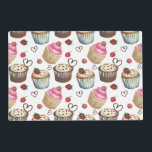 "Watercolor cupcakes placemat<br><div class=""desc"">Watercolor cupcakes</div>"