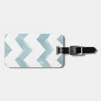 Watercolor Cure Blue Chevrons Travel Bag Tags