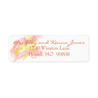 Watercolor Customizable Return Address Label