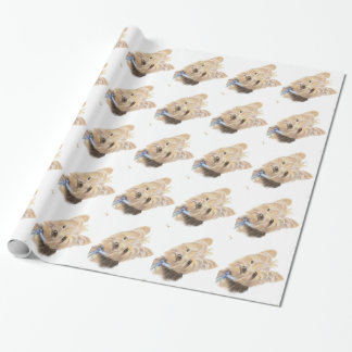 Watercolor Cute Little Yorkie Dog Pet Animal art Wrapping Paper
