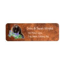 Watercolor Cute Marmot Animal Address Label