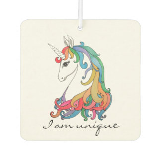 Watercolor cute rainbow unicorn air freshener