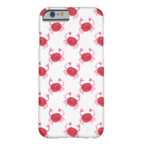 watercolor cute red crabs beach design barely there iPhone 6 case