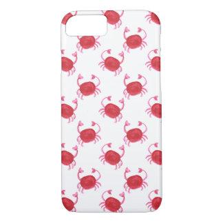 watercolor cute red crabs beach design iPhone 8/7 case
