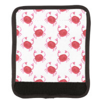 watercolor cute red crabs beach design luggage handle wrap