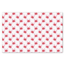watercolor cute red crabs wrapping tissue tissue paper