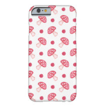 watercolor cute red mushrooms and polka dots barely there iPhone 6 case