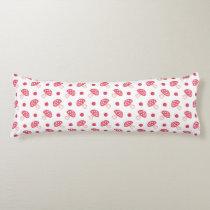 watercolor cute red mushrooms and polka dots body pillow
