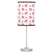 watercolor cute red mushrooms and polka dots desk lamp