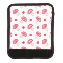watercolor cute red mushrooms and polka dots luggage handle wrap