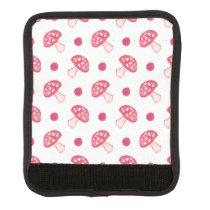 watercolor cute red mushrooms and polka dots luggage handle wrap