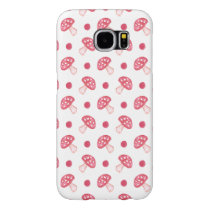watercolor cute red mushrooms and polka dots samsung galaxy s6 case