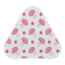 watercolor cute red mushrooms and polka dots speaker