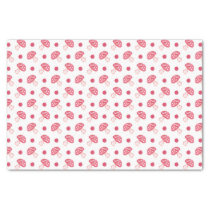 watercolor cute red mushrooms and polka dots tissue paper