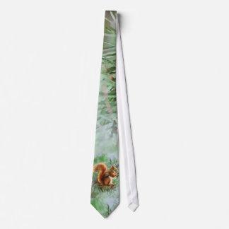 Watercolor Cute Red Squirrel Animal Nature Art Neck Tie