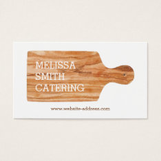 Watercolor Cutting Board Catering Chef Logo Business Card at Zazzle