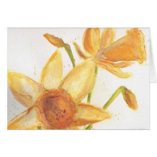 Watercolor Daffodil Notecard