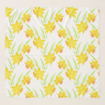 """Watercolor Daffodils Pattern Scarf<br><div class=""""desc"""">Scarf printed with original watercolor daffodils painting.</div>"""