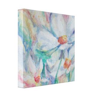Watercolor Daisies Canvas Print