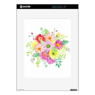Watercolor daisy bouquet skin for the iPad
