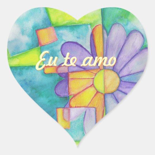 Watercolor Daisy Heart Stickers