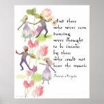 Watercolor Dancers Poster