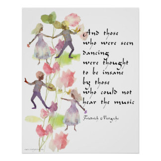 Watercolor Dancers Poster