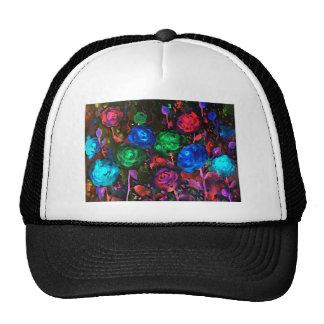 Watercolor dark rose pattern trucker hat