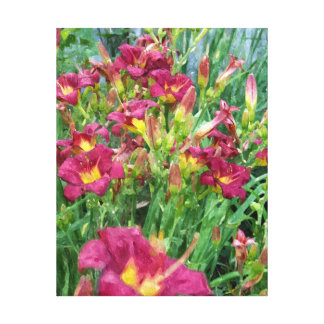 Watercolor Daylillies Canvas