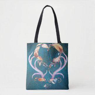 Watercolor Deer Antlers Native American Southwest Tote Bag