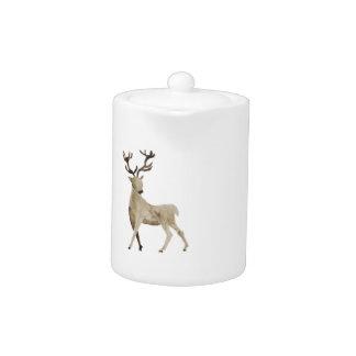 Watercolor Deer Design Teapot