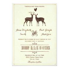 Watercolor Deers wedding invitation at Zazzle