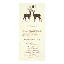 Watercolor Deers Wedding Program