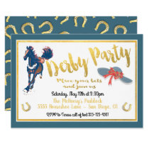 Watercolor Derby Horse Racing Party Invitation