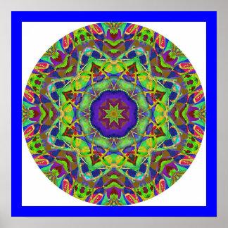 Watercolor Design Mandala Poster.3