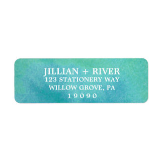 Watercolor Destination Beach Wedding Label