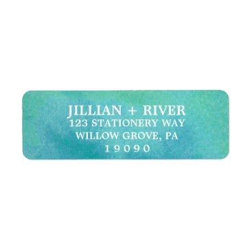 Beach Themed Watercolor Destination Beach Wedding Label