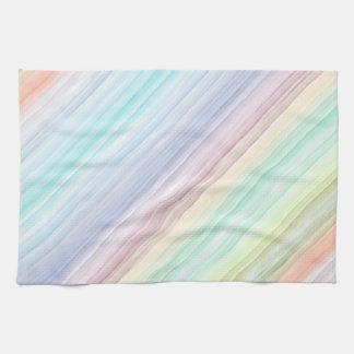 Watercolor Diagonal Stripes Hand Towel