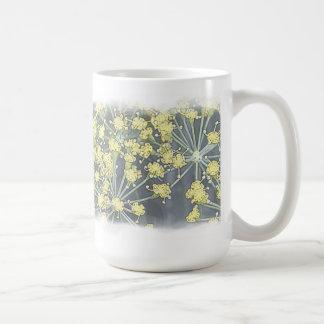 Watercolor Dill on White Coffee Mug